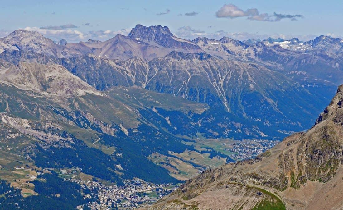 mountain, landscape, glacier, blue sky, valley, nature, glacier, winter