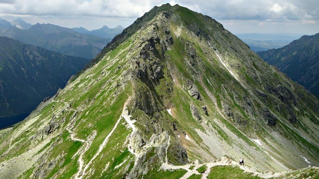 mountain, nature, landscape, mountain peak, cloud, blue sky, high, sky, hike, valley