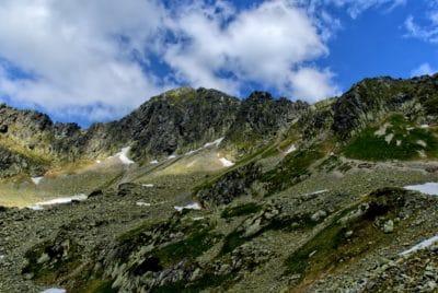 alam, pemandangan gunung, langit biru, air, gletser, musim panas, valley