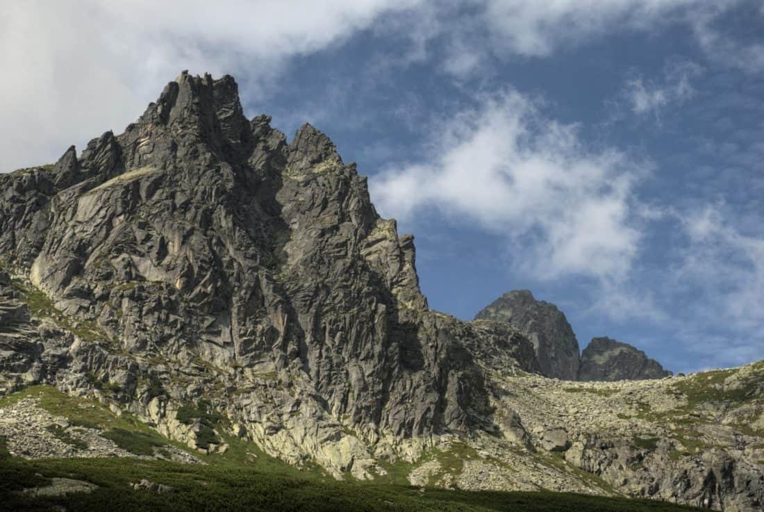 mountain, landscape, nature, sky, castle, mountain peak, geology