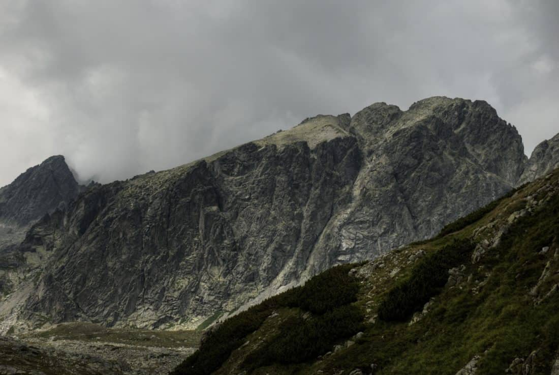 гірський краєвид снігу, туману, гірський пік, геології, небо, відкритий, природа