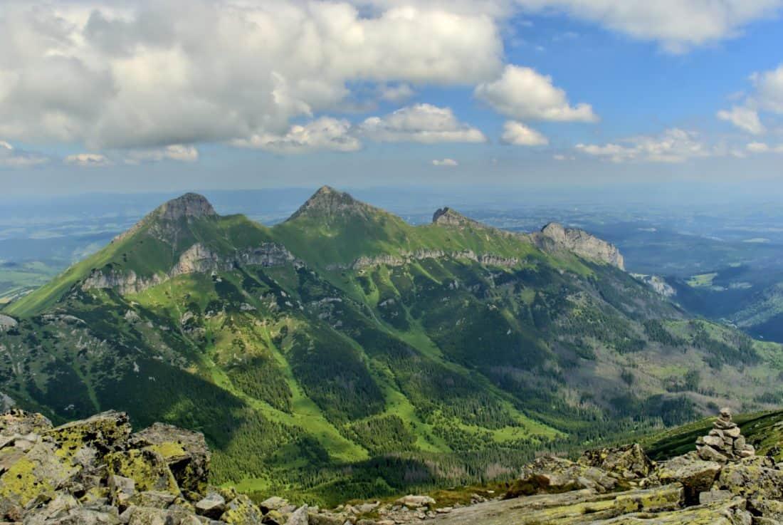 mountain, landscape, nature, cloud, blue sky, hill, valley, national, park