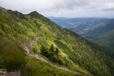 landschap, bergen, natuur, hemel, bos, wolk, vallei, buiten