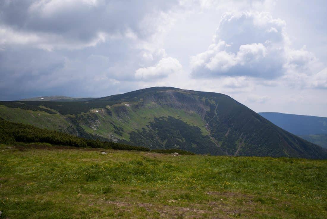 landscape, mountain, hill, sky, cloud, knoll, grass, outdoor