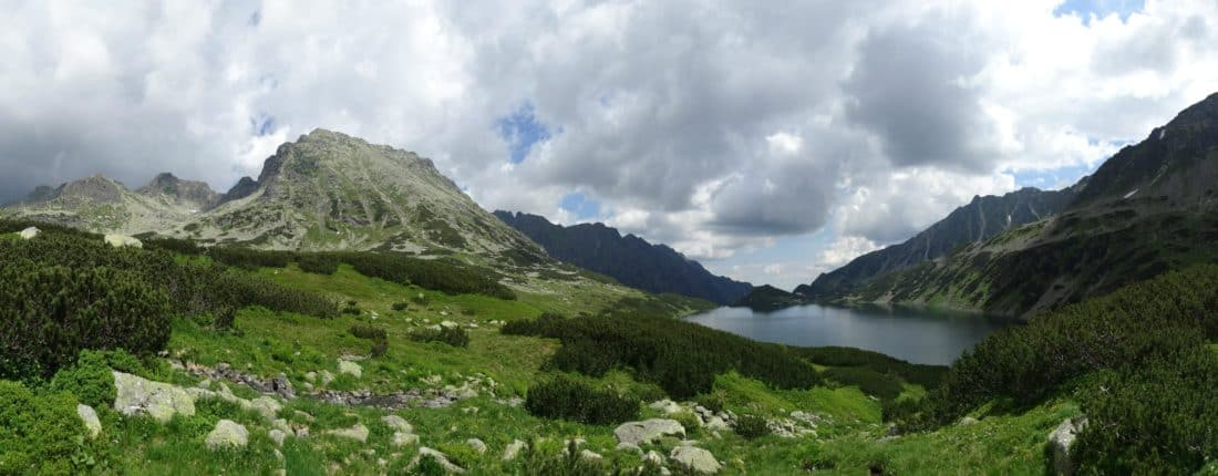 mountain, panorama, national park, cloud, landscape, nature, water, sky, lake, valley