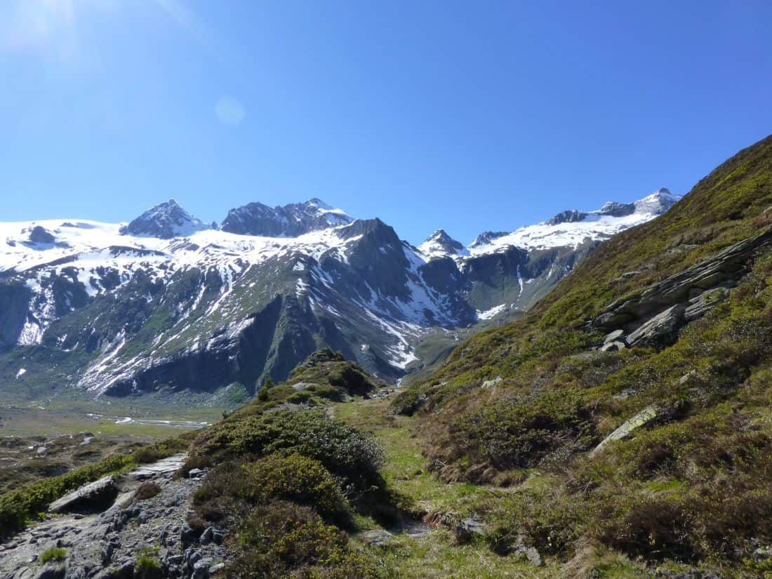 mountain, landscape, snow, winter, blue sky, nature, glacier, sky, high