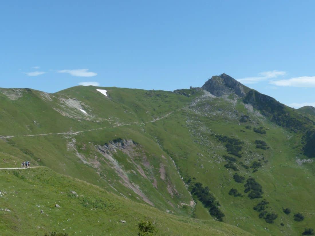 landscape, valley, mountain, nature, grass, outdoor, blue sky