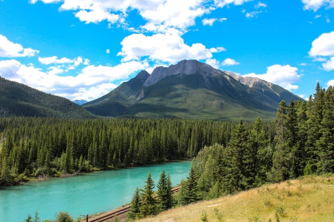 mountain, lake, nature, cloud, national park, summer, wood, snow, water, landscape