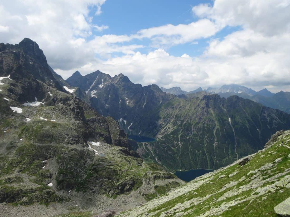 mountain, landscape, snow, nature, cloud, spring, valley, sky, glacier