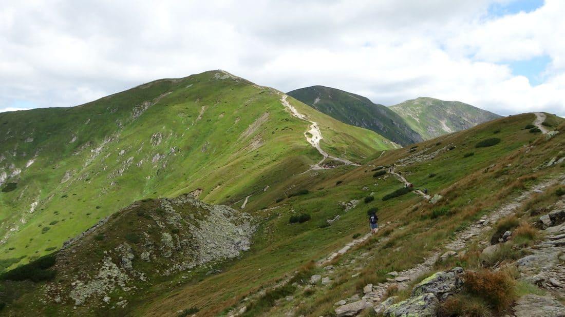 landscape, mountain, nature, hill, cloud, grass, hill, ascent, sky