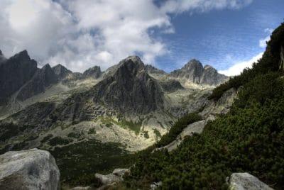 горы, пейзаж, горный пик, облако, геологии, природа, небо, Открытый