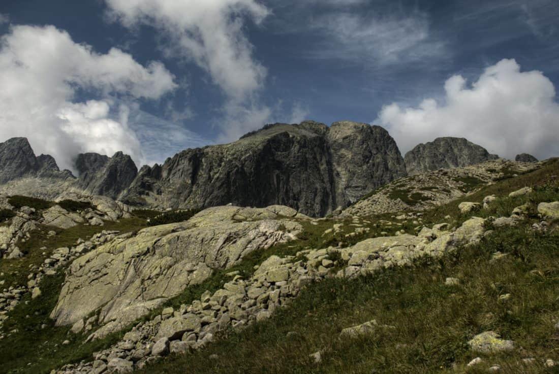 landscape, mountain, sky, mountain peak, stone, geology, nature, outdoor