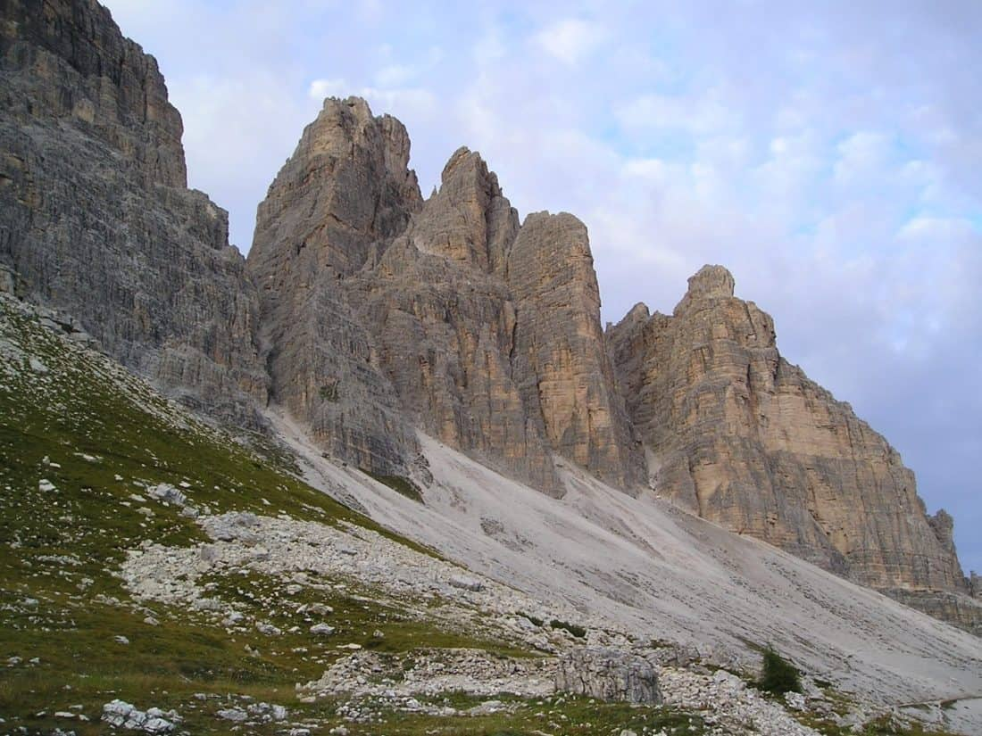 landscape, mountain, mountain peak, cloud, valley, geology, outdoor