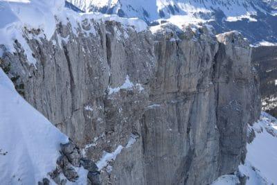 nieve, invierno, montaña, hielo, megalito, piedra, glaciar, frío, paisaje