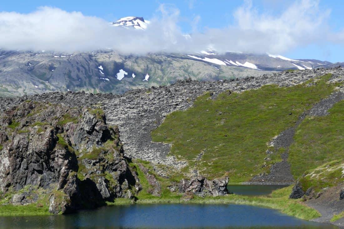 landscape, water, lake, mountain peak, geology, mountain, nature, sky, lake, basin