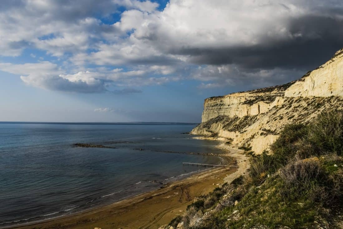 water, sea, seashore, cloud, beach, ocean, sky, landscape, coast