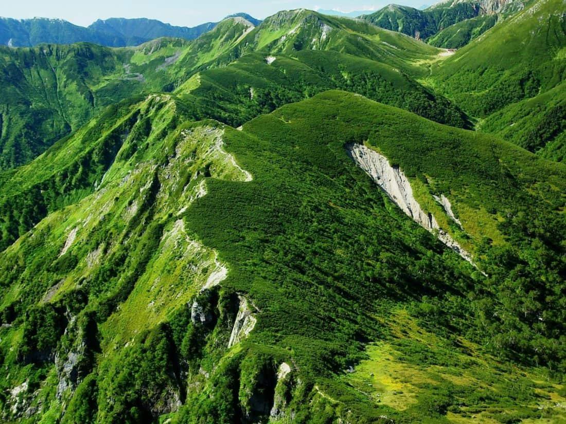 nature, landscape, green, grass, vegetation, mountain, valley, sky