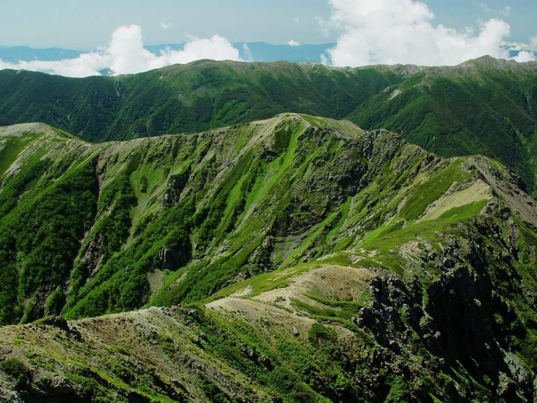 mountain, landscape, foliage, green, nature, sky, outdoor