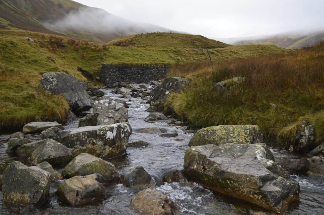 water, landscape, nature, cloud, fog, river, stream, mountain, outdoor