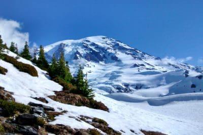 nieve, montaña, invierno, hielo, escarcha, cielo azul, Parque Nacional, al aire libre, cielo, naturaleza