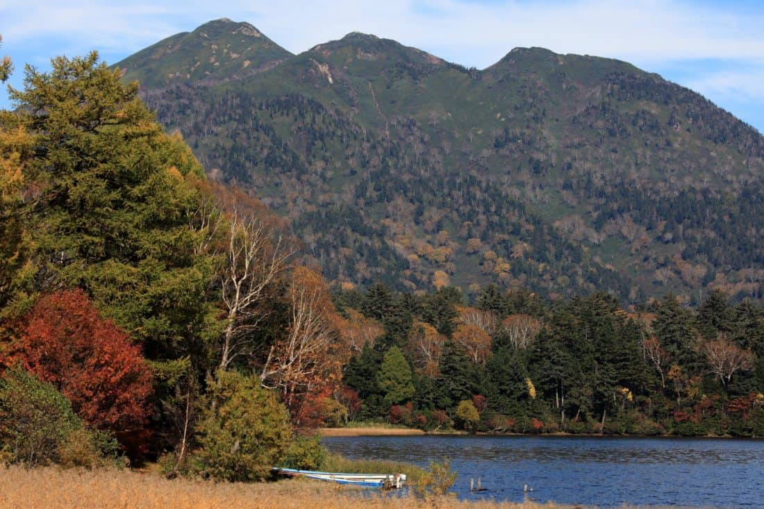 water, landscape, tree, national park, autumn, mountain, nature, lake, sky
