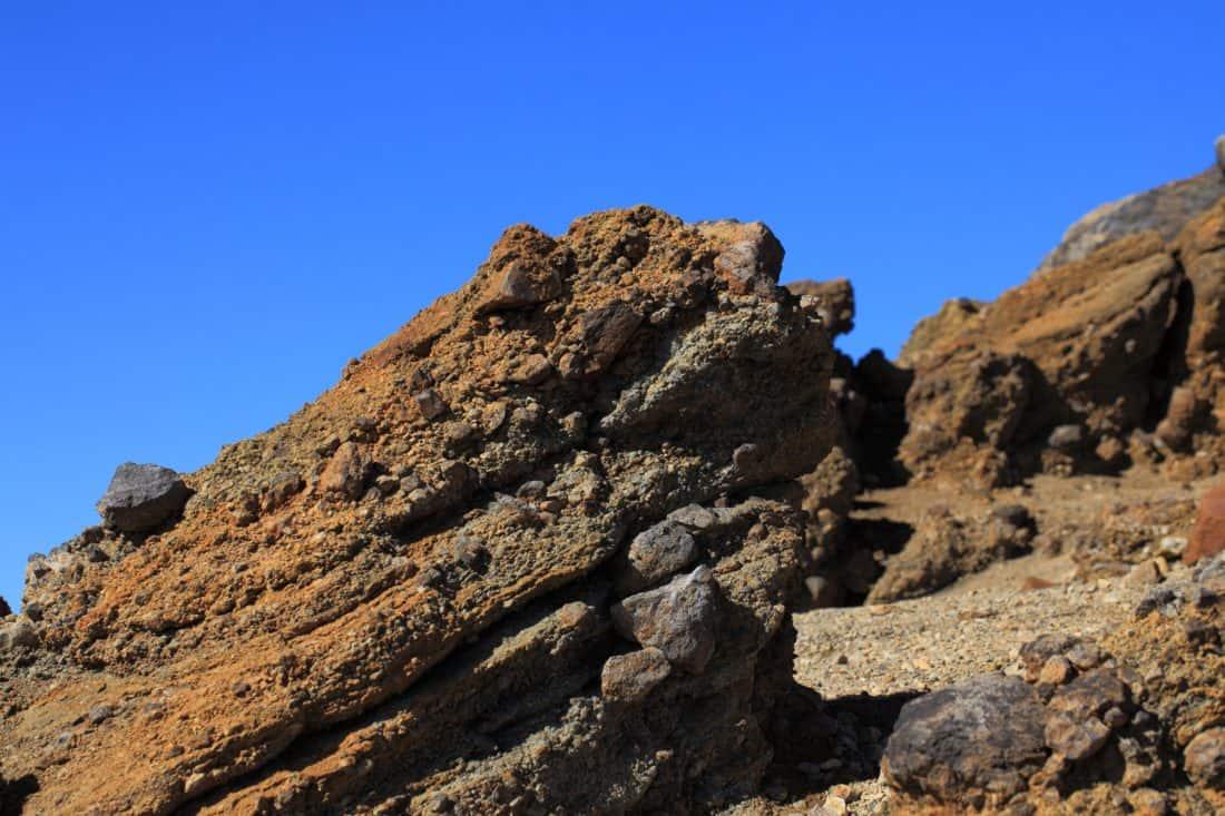 landscape, desert, sky, stone, blue sky, mountain, ascent, outdoor, rocky