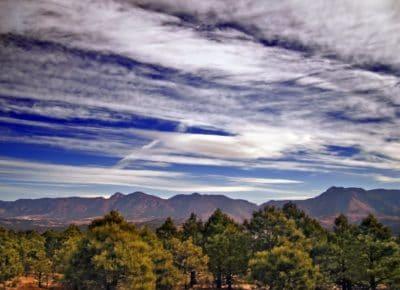 paysage, montagne, nature, géologie, ciel bleu, coucher de soleil, aube, arbuste