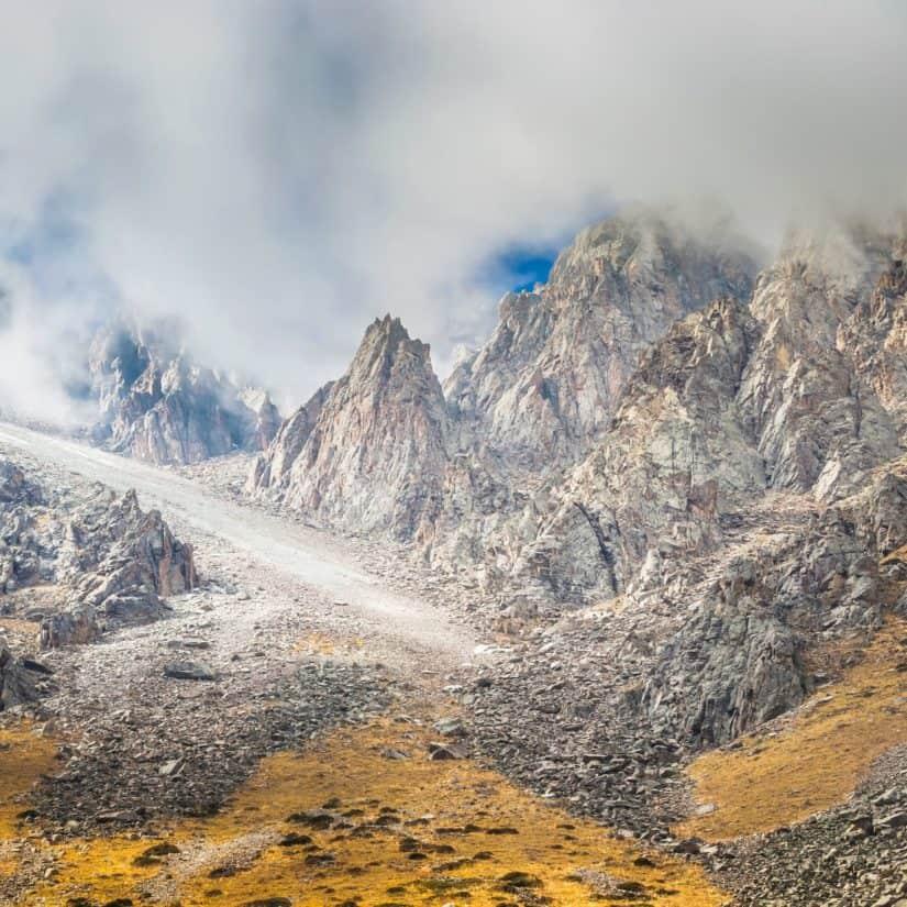 mountain, landscape, snow, mountain peak, geology, valley, sky, nature, glacier, high