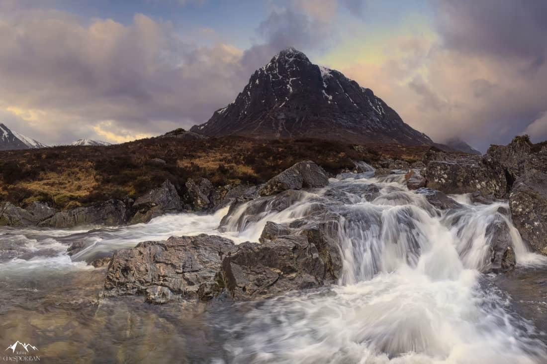 water, landscape, mountain, mountain peak, geology, sky, glacier, nature