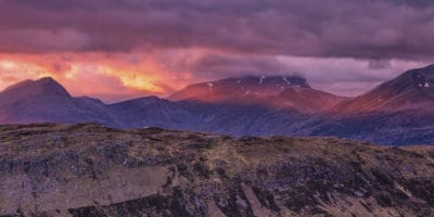 mountain peak, landscape, outdoor, geology, sunset, sky, outdoor, nature
