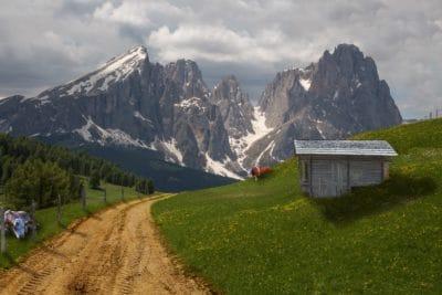 山, 风景, 室外, 地质学, 牧场, 草甸, 草, 室外, 天空
