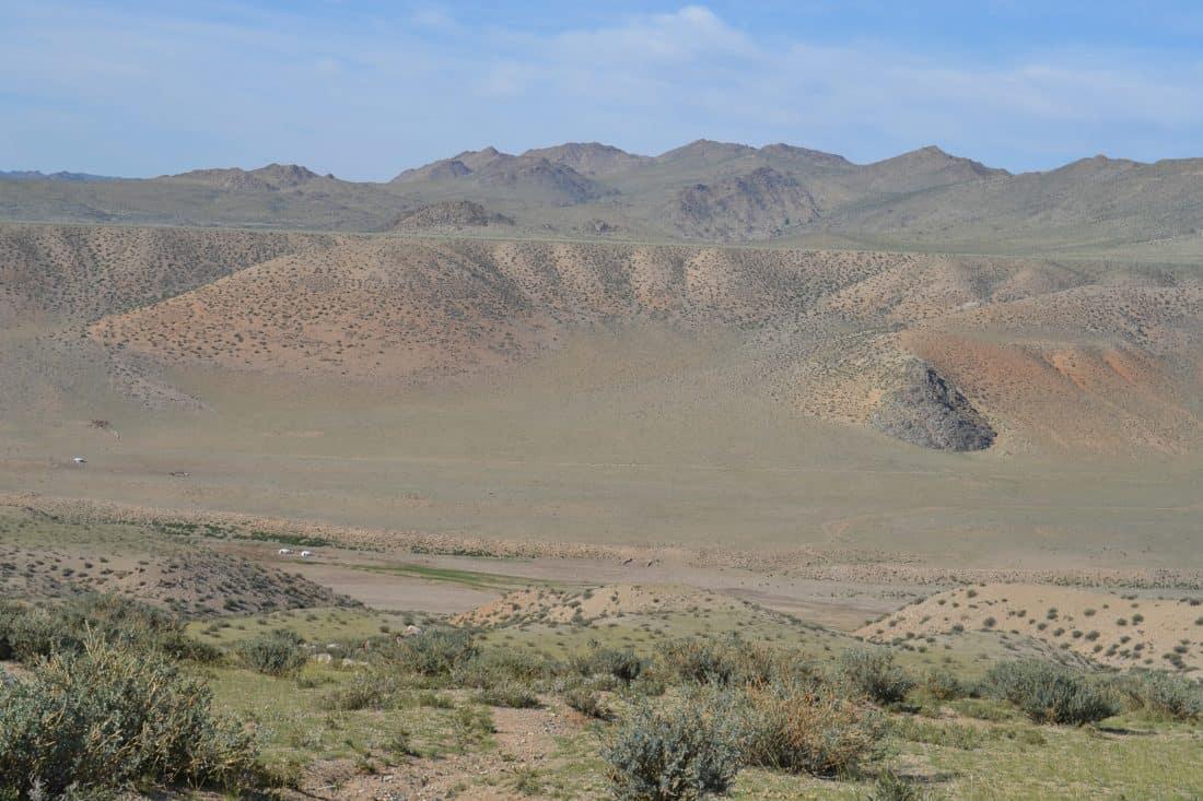 landscape, desert, dry, steppe, mountain peak, geology, land, outdoor, grass