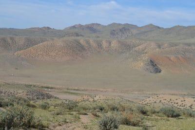 krajolik, pustinjska, suha, stepa, planinski vrh, geologija, zemljište, vanjski, trava