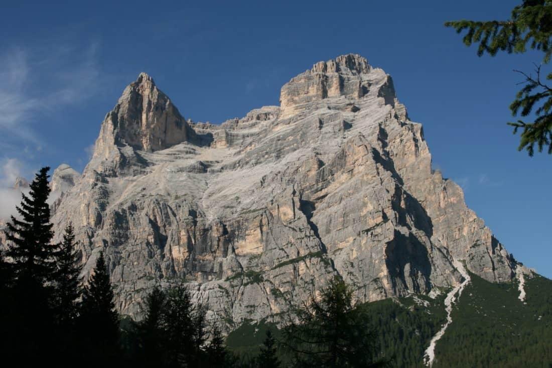 mountain, landscape, mountain peak, geology, outdoor, tree, sky, nature