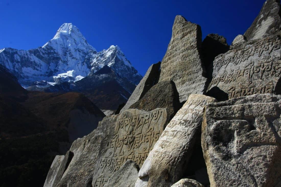 φύση, υπαίθριο, πέτρινο, megalith, κορυφή του βουνού, βουνό, κοιλάδα, ουρανός