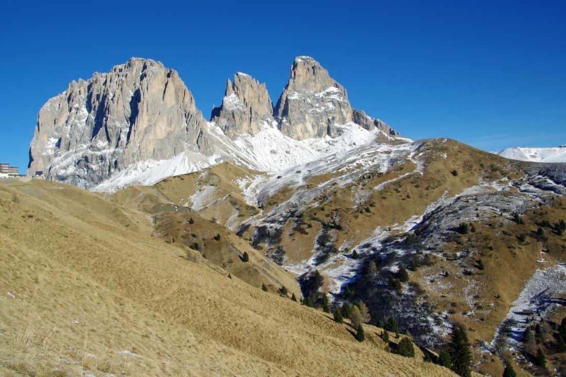 Gunung salju lanskap, gletser, langit, puncak gunung, geologi, pendakian, Kolam