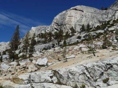 montaña, paisaje, nieve, naturaleza, árbol, coníferas, piedra, montaña, cielo azul, al aire libre