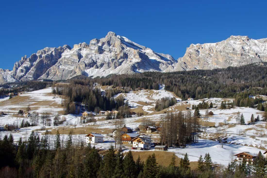 nieve, montaña, paisaje, invierno, al aire libre, cielo azul, naturaleza