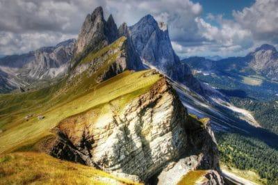 montaña, paisaje, naturaleza, cielo, glaciar, nieve, pico de la montaña