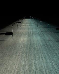ombra scura, lampione, prospettiva urbana, architettura,