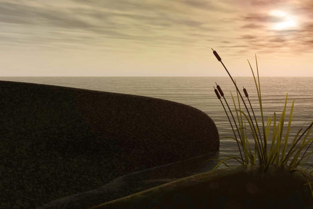Strand, Meer, Schatten, Ozean, Landschaft, Meer, Wasser, Sonnenuntergang