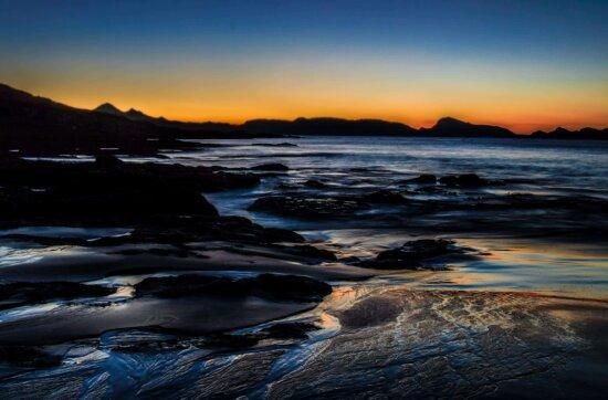 sunset, dawn, water, dusk, sea, beach, seascape, ocean