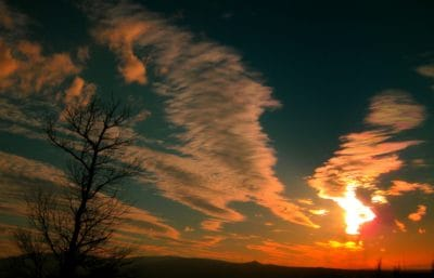 lever du soleil, nuage, soleil, aube, silhouette, soleil, crépuscule, ciel, lever du soleil, paysage
