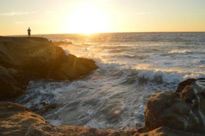 agua, luz solar, sol, sunrise, océano, playa, mar, mar, marino