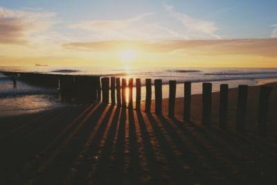 Napkelte, árnyék, sötétség, silhouette, csendes-óceáni, pier, ég, víz, beach, Hajnal, óceán, alkonyat, tengerpart