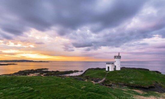 lighthouse, cloud, coast, seashore, water, sea, beach, landscape, ocean