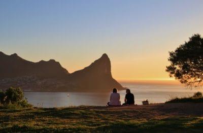 matahari terbit, siluet, air, fajar, laut, laut, pantai, pantai, lansekap