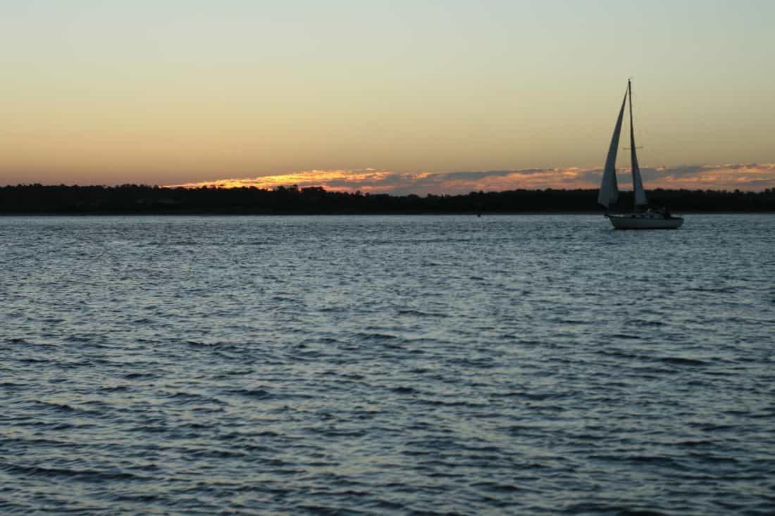 víz, motoros vízi sporteszközök, Napkelte, hullám, silhouette, ég, vitorlás, Hajnal, tenger, óceán