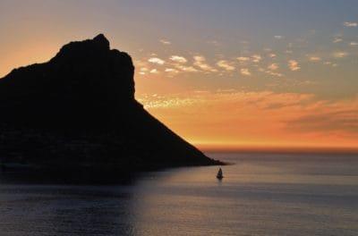sunrise, mountain, island, cloud, water, beach, dawn, sea, ocean, sun, sky, coast