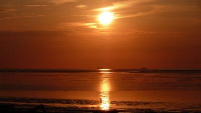 lumière du soleil, lever du soleil, soleil, aube, eau, crépuscule, mer, plage, océan, lever du soleil